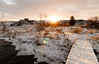 Flare (GummiG!) Tags: iceland flare wide winter snow sunset golden
