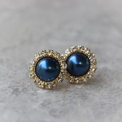 Navy and gold earrings! Also in silver! https://t.co/t1mF5YswQL #gift #women #fashion #shop #jewelry https://t.co/sUbikITtte (petalperceptions.etsy.com) Tags: etsy gift shop fashion jewelry cute