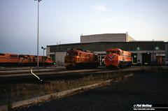 2958 X1028 DB1581 Forrestfield Loco Depot 12 April 1982 (RailWA) Tags: railwa philmelling westrail 1982 x1028 db1591 forrestfield loco depot