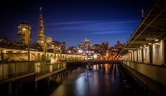 City At Night (Rohit KC Photography) Tags: night city cityscape lights bright longexposure le still patience reflection sky water buildings nightshot nightphotography california ca usa canon canon5dmarkii canonef24105mmf4l warm amature hobby vignette outdoors outdoor sanfrancisco
