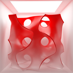 The Gyroid (Me & My 5D3) Tags: gyroid math blender render cycles red light art sculpture