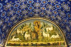 Good shepherd Mosaic - Mausoleum of Galla Placidia  DSC01324 (Chris Belsten) Tags: byzantine oratory iconography mausoleum westernromanempire earlychristianart byzantineart ravenna worldheritage romanempire mosaic mosaics gallaplacidia unesco church