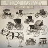"""Carriage Clip Art: """"Vintage Carriages"""" clipart contains victorian images of carriages, stagecoach, cart, horse and buggy (Digiworkshop) Tags: etsy digiworkshop scrapbooking illustration creative clipart printables cardmaking carriage vintage victorian stagecoach"""