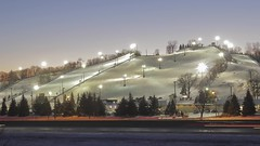Twilight at Buck Hill (Sam Wagner Photography) Tags: twilight winter cold snow hill mountain ski snowboard run trick park lifts tubing highway traffic long exposure blue hour making twin cities metro 4k uhd time lapse timelapse motion north midwest minnesota travel fun sport