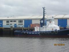Tugboat, wharf and offices. River Tamar (d.kevan) Tags: tugboats warehouses boats rivertamar launceston tasmania wharves australia