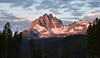 Mountain Sunrise (maytag97) Tags: maytag97 nikon d750 idaho sawtooth range sunrise cloud cloudy inspiring morning natural nature environment rock snow wood mountain forest tree sky mountainside landscape crag rugged scenic