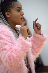 DSC_5794 Miss Southern Africa UK Beauty Pageant Contest at Oasis House Croydon Dec 2017 Mbali Pink Faux Fur Coat (photographer695) Tags: miss southern africa uk beauty pageant contest oasis house croydon dec 2017 mbali pink faux fur coat