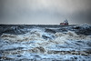 Sten Arnold, Rough and Ready. (alundisleyimages@gmail.com) Tags: stenarnold tanker shipping rivermersey weather storm turbulance portsandharbours horizon whitewater breakers maritime