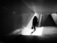 Underground (René Mollet) Tags: underground street streetphotography shadow silhouette streetart streetphotographiebw station schwarzweiss blackandwhite bw renémollet urban urbanstreet candite