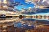 Reflejos (zapicaña) Tags: cabodegata reflejos nube autocaravana ac motorhome campercar clouds sky cielo