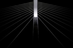 Singularity (kalbasz) Tags: bridge building architecture megyeri híd black white blackandwhite hungary outdoor night vignette line