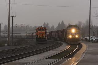 Rainy grain train