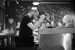 Slow pour (michael.mu) Tags: leica m240 50mm noctilux leicanoctiluxm50mmf095asph jabeerwocky warsaw warszawa streetphotography silverefexpro bw blackandwhite craftbeer pub bar poland
