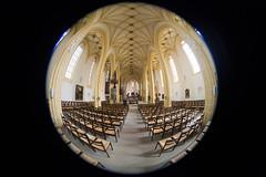 Stiftskirche Herrenberg (Jean-Marie Will) Tags: kirche stiftskirche herrenberg innenraum fisheye ausstellung fotoclub objektiv