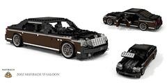 Maybach 57 Saloon (2002) (lego911) Tags: maybach daimler daimlerbenz mercedes mercedesbenz w240 v240 57 saloon sedan limousine luxury 2002 v12 turbo 2000s auto car moc model miniland lego lego911 ldd render cad povray german germany