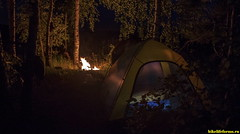 Все готово к ужину, а потом спать. И сниться нам будет река Пальна с ее красивой природой!