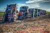 Cadillac Ranch (donnieking1811) Tags: texas amarillo cadillacranch cars cadillac art painting paint outdoors sky clouds colorful colors spraypaint cans hdr canon 60d lightroom photomatixpro