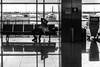 The urge for connection / make yourself at home (Özgür Gürgey) Tags: 2017 50mm atatürkairport bw d750 nikon architecture cable connection lines people planes reflection street istanbul