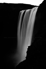 Skogafoss Waterfall (FredConcha) Tags: skogafoss waterfa waterfall iceland cliffs blackandwhite fredconcha longexposure 1635 d800 nikon lee nature landscape river