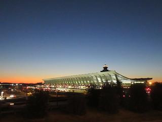Main terminal at dawn, Dulles International Airport near Washington, D.C.