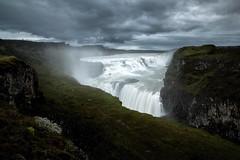 Gullfoss (Olli Tasso) Tags: gullfoss landscape stormy moody dramatic scenery view waterfall iceland islanti maisema vesiputous travel matkakuva matkailu mist cloudy overcast canyon river