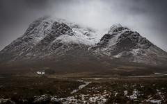 Defiance (mattbrownphoto) Tags: glencoe scotland visitscotland highlands landscape winter weather glen etive bauchaille mor snow mountains cottage house alone isolation