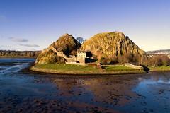 Dumbarton Rock and Castle (iancowe) Tags: dumbarton rock castle dumbartonrock clyde dji phantom 4 pro drone scotland scottish winter river glasgow