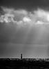 Lighthouse (robert.lindholm87) Tags: nikon 300mm nikkor d500 bw bnw black blackandwhite blackwhite blacknwhite white ocean water sky godrays sweden lighthouse sea winter