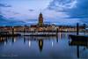 Deventer Skyline (Hans van Bockel) Tags: 1680mm city d7200 front hdr ijssel le nikkor nikon pier rivier stad statief worp nik cr
