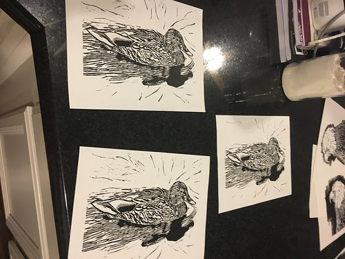 """Printmaking for adding color with acrylic or watercolor #print #prints #printmaking #linoprint #lino #linocut #homemade #diy #eagle #duck #mallard #carved #art #artstudio #artist #mckinney #texas #handprinting #woodenspoon #inking #ink #inktober • <a style=""""font-size:0.8em;"""" href=""""http://www.flickr.com/photos/57802765@N07/39444412441/"""" target=""""_blank"""">View on Flickr</a>"""