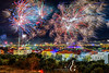 Into 2018 With a Bang (TranceVelebit) Tags: hrvatska croatia zadar dalmatia dalmacija adriatic mediterranean city cityscape night nightscape light lights colorful colors color celebrations celebration new year 2018 fireworks