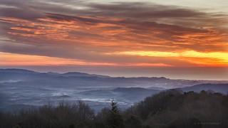 Colored sunrise.