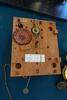 circa 1820 Connecticut weight-driven 30-hour time and strike shelf clock movement (nicknormal) Tags: makerfaire worldmakerfaire clock clockmaker fixer gear