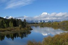 View from Oxbow Bend (Larry Myhre) Tags: grandtetonnationalpark mountain oxbowbend snakeriver scenic viewpoint wyoming mountmoran