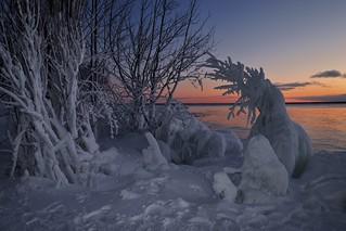 sunset, whitefish bay