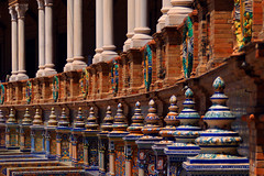 Sewilla - Plaza de España (jacekbia) Tags: europa hiszpania espania españa spain sewilla sevilla plazadeespaña ceramika outdoor architecture architektura canon 1100d kolory colors