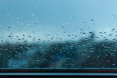 Miðborg Window (mattchez) Tags: travel nikond40 dslr d40 iceland rain rainy rainyday window gray sad somber cloudy weather drops droplets reykjavik