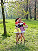 Got you 063 (fab2007) Tags: beautiful candid outdoor eff elffair elffantasyfair elfia girl woman fille cosplay corset littleredridinghood roodkapje girlfriends pretty