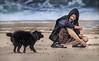 Der Hund, der Mann und das Meer (ellen-ow) Tags: braydunes frankreich meer strand wasser männer person küste hund dog animal sea sand mann man water ellenow nikond5 beach