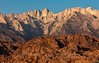 Mt. Whitney from the Alabama Hills (chasingthelight10) Tags: events photography travel landscapes highdesert mountains nature rockformations sunset sunsets sunrises sunrise places california lonepine alabamahills