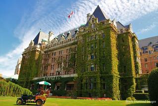 Butchart Gardens Historic Car Display at Fairmont Empress Hotel - Victoria, British Columbia, Canada