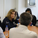Penny Mordaunt meets aid workers just back from Yemen in Djibouti