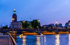 Stockholm 2010 (karlheinz klingbeil) Tags: nacht night sverige schweden wasser city water stadt sweden