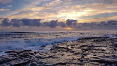 Craster, Northumberland [Explored 12.12.17] (mandysp8) Tags: craster crashingwaves rocks morning ocean coast sunlight waves sea northumberland uk horizon