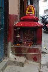 Roadside shrine (posterboy2007) Tags: shrine road street door kathmandu nepal sony