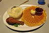 Chicken and Waffles, Oakland, CA (Robby Virus) Tags: oakland california ca eastbay chicken waffles home plate drumstick food grits