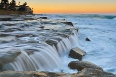 La Jolla Sunrise: 12/15/17 no.2 (tltichy) Tags: lajolla beach coast coastal longexposure morning ocean pacific reef sandiego socal southerncalifornia sunrise surf water waterfall