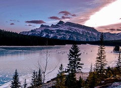 Two Jack Lakes Banff (Mountain lakes dreaming) Tags: patineur randonneur blue twojacklakes banff ice