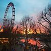 Red River (mrdamcgowan) Tags: sunset london londonist waterloosunset londoneye riverthames redriver