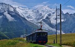 Tramway du Mont Blanc au Col de Voza, Saint Gervais les Bains (thierry llansades) Tags: tmb train tren chamonix saintgervais mont montblanc houches ciel montagne mountain glacier glaciers neige neus rail tram tramway tramways ampes alpeste alpestre rails chel chemin fer